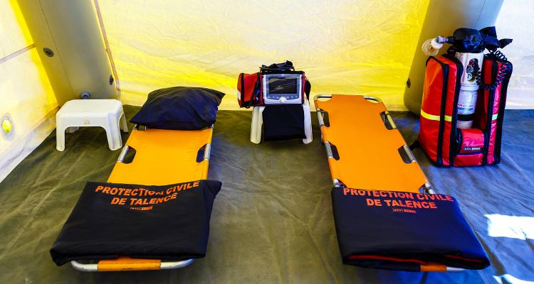 dps : dispositif de secours, poste de secours, protection civile de talence en gironde