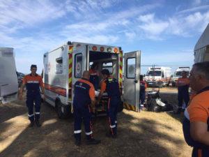Evactuation vers un milieu hospitalier