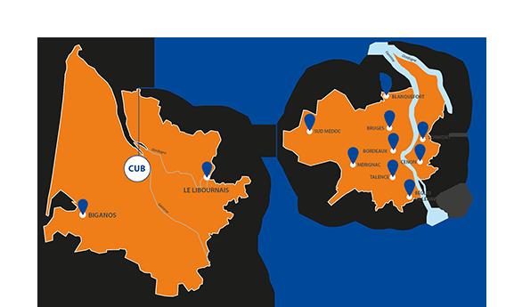 Répartition géographique de l'ADPC33