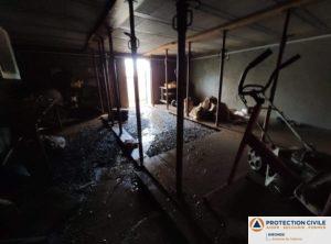 Evaluation des dégats par les equipes de la protection civile de talence - Certaines habitations ont besoin de renforts