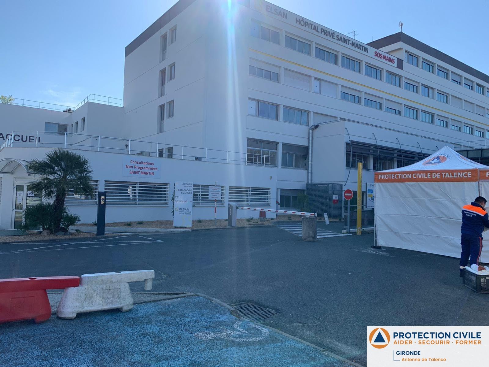 Mise en place d'un SAS de pre-tri aux urgences Saint-Martin a Pessac