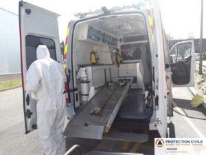 Désinfection aprés transport suspect covid